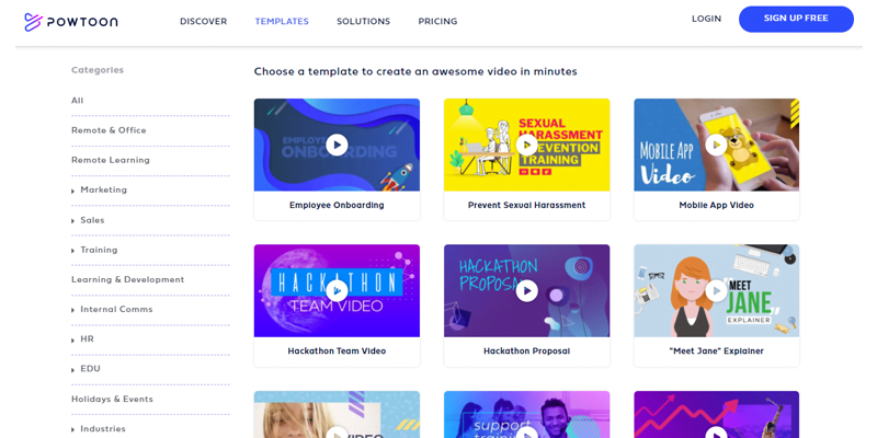 Digital Marketing Tools - PowToon