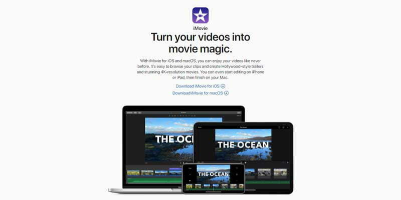 iMovie video editing software