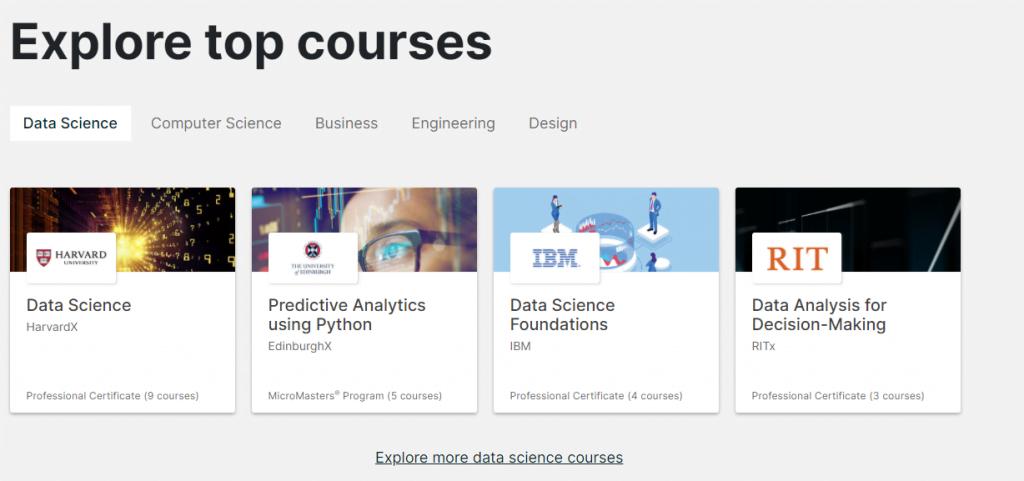 edX kursus online