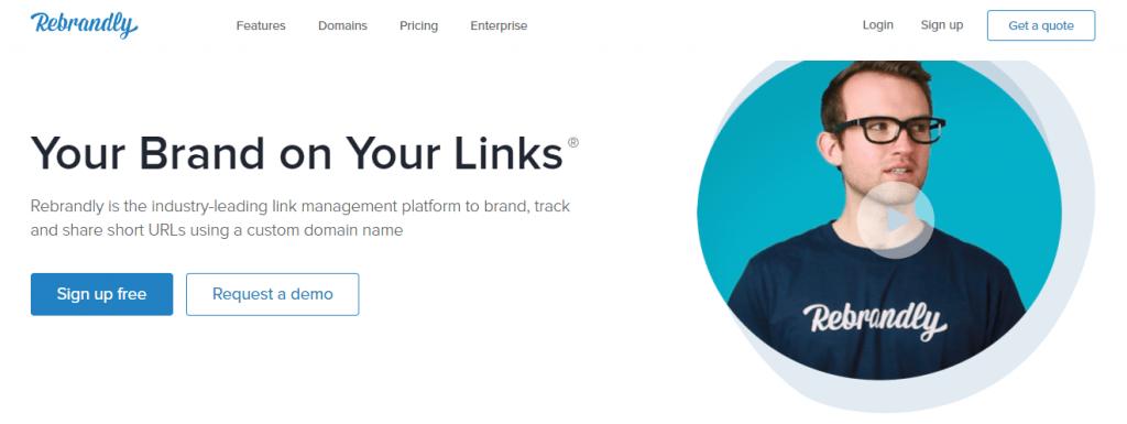 Rebrandly persingkat link