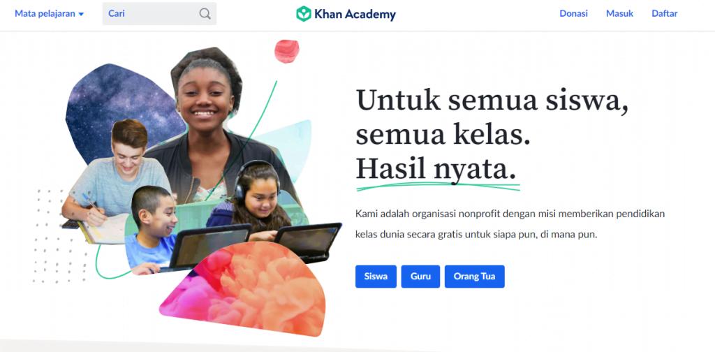 Kelas Online Khan Academy gratis