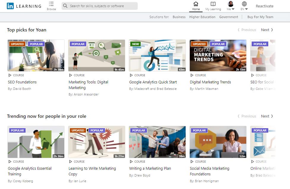 LinkedIn Learning kelas online