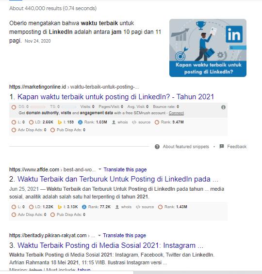 Optimize Featured Snippet - Waktu Terbaik untuk Posting di LinkedIn
